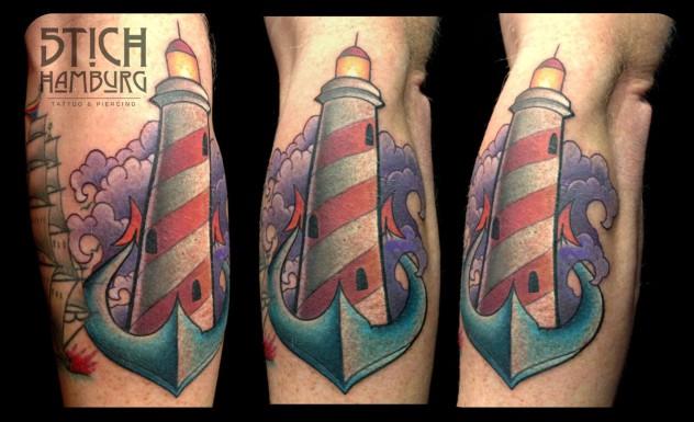 Claudia Tattoo Anker Leuchtturm