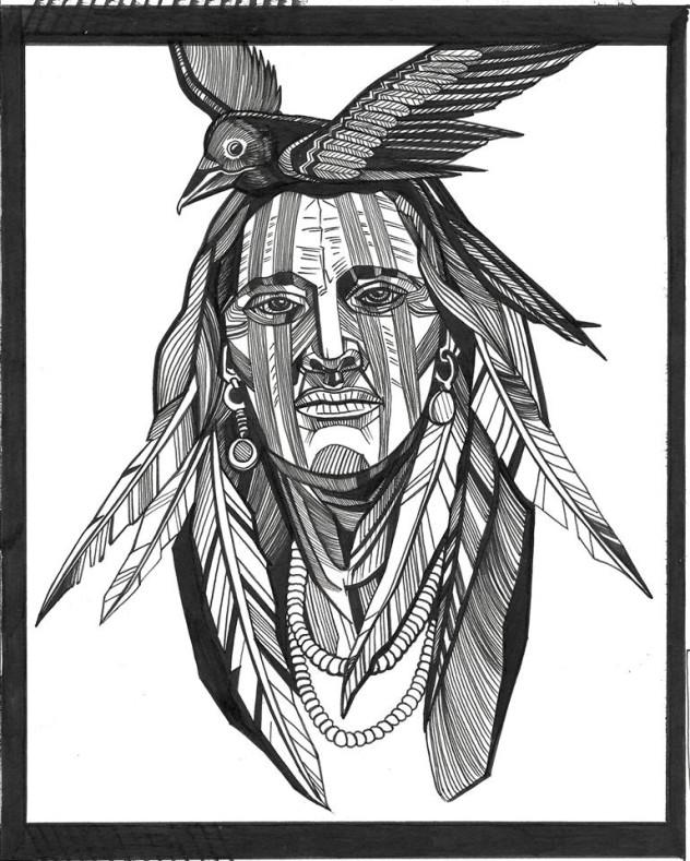 Tattoo Hamburg Blackwork Indian